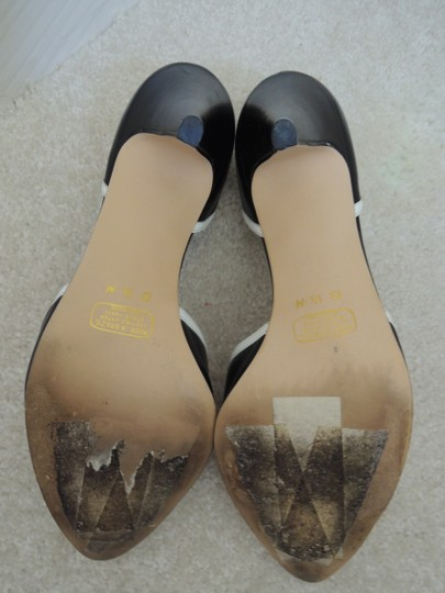 Connie black and white Pumps Image 11