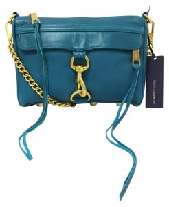 Rebecca Minkoff Mini Mac Leather Clutch Cross Body Bag
