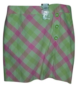 Ann Taylor LOFT Mini Skirt Pink/Green/White