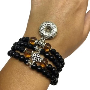 DeWitt's Black Glaze Prayer Beads Mala Bracelet/Necklace