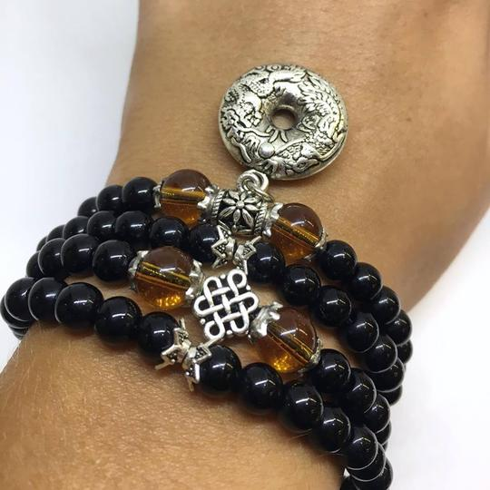 DeWitt's Black Glaze Prayer Beads Mala Bracelet/Necklace Image 3