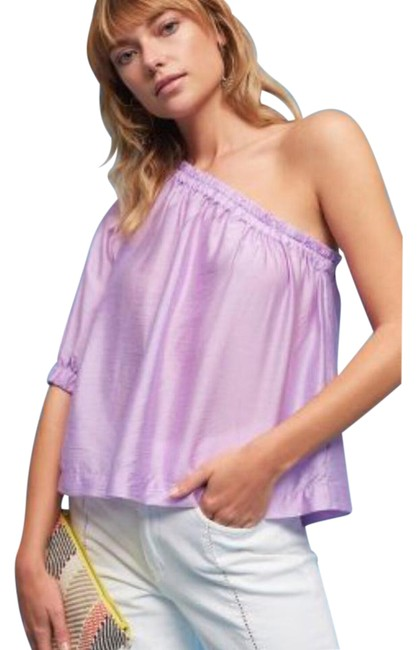 Preload https://img-static.tradesy.com/item/21851860/anthropologie-lavender-mave-leonie-one-shoulder-lilac-blouse-size-16-xl-plus-0x-0-1-650-650.jpg