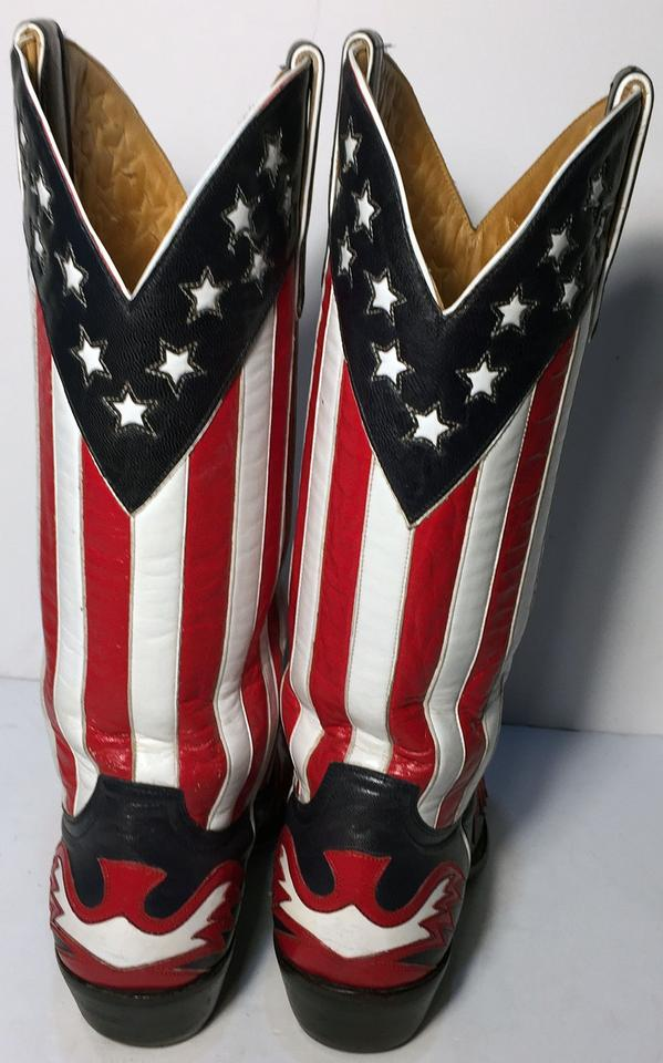 f3b7f4a0433 Old Gringo Red Blue White Star and Stripes Flag Cowgirl Women Boots ...