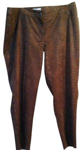 Chico's Straight Pants brown reptile print