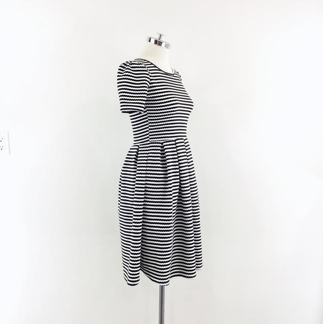 LuLaRoe short dress black white Striped Fit & Flare Pleated Amelia on Tradesy Image 2