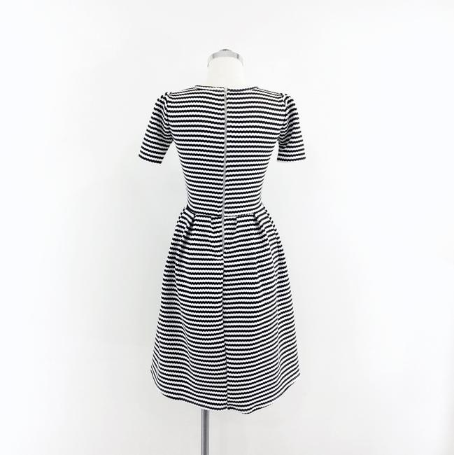 LuLaRoe short dress black white Striped Fit & Flare Pleated Amelia on Tradesy Image 3