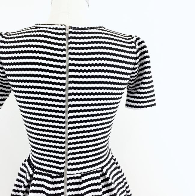 LuLaRoe short dress black white Striped Fit & Flare Pleated Amelia on Tradesy Image 5