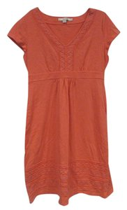 Boden short dress Orange Embroidered on Tradesy