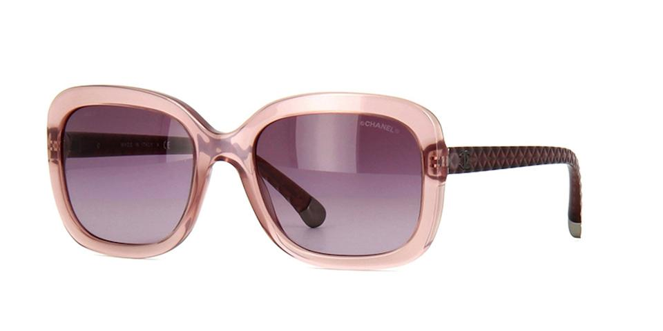 Chanel Square Pink Quilted Acetate Sunglasses 5329 1533