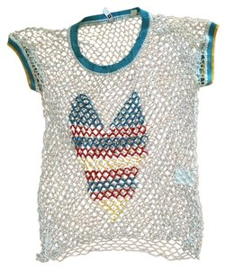 Iisli Beaded Summer Sheer Top White