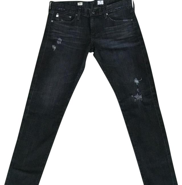 Item - Black Coated Nikki Relaxed Skinny Jeans Size 29 (6, M)