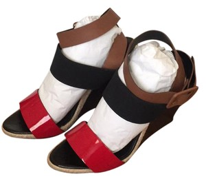 Pierre Hardy black, red and brown Sandals