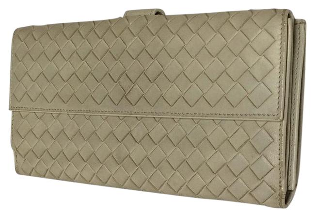 Item - White (Gray) Leather Wallet