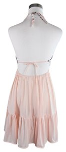 Lisa Nieves short dress blush pink Halter Stretch Cocktail on Tradesy