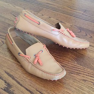 Tod's Beige and Orange Flats