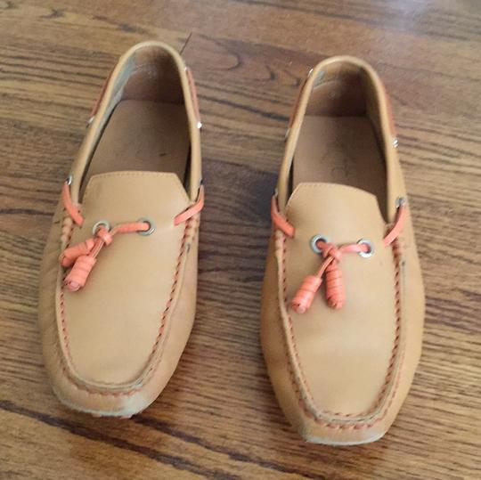 Tod's Beige and Orange Flats Image 1