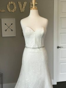 Wtoo Ivory(Glisten) Sequence Charlize Wedding Dress Size 10 (M)