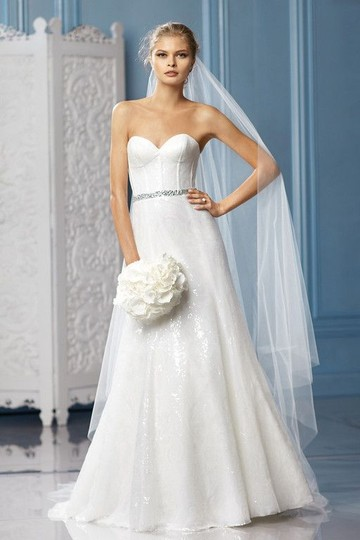 Wtoo Ivory(Glisten) Sequence Charlize Wedding Dress Size 10 (M) Image 1
