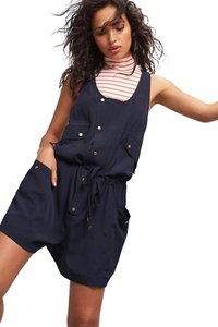Anthropologie Overalls Playsuit Nautical 90's Cute Dress