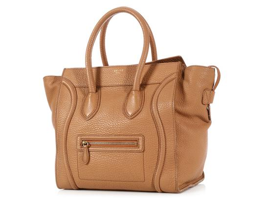 Céline Ce.l0609.17 Handle Gold Tote in Brown Image 1