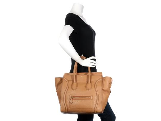 Céline Ce.l0609.17 Handle Gold Tote in Brown Image 10