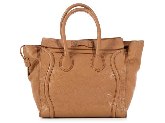 Céline Ce.l0609.17 Handle Gold Tote in Brown Image 3