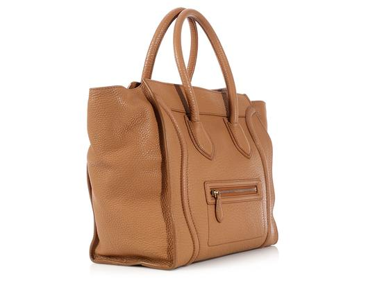 Céline Ce.l0609.17 Handle Gold Tote in Brown Image 4
