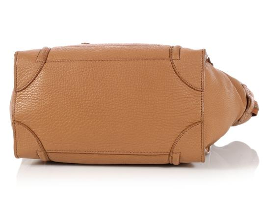 Céline Ce.l0609.17 Handle Gold Tote in Brown Image 5