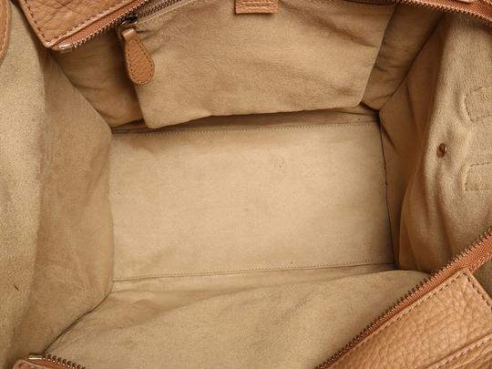 Céline Ce.l0609.17 Handle Gold Tote in Brown Image 9