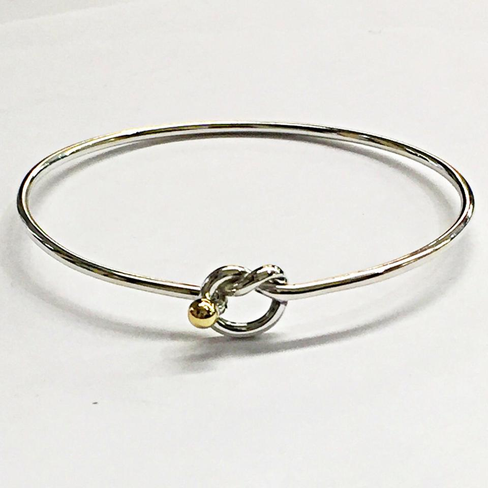 us owned lxrandco two and vintage luxury love bracelet tone en pre gold bangle silver knot large bracelets sterling bangles tiffany