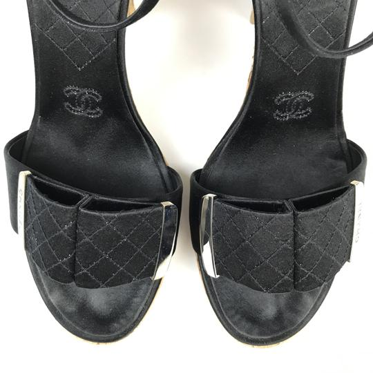 Chanel Satin Black Sandals Image 4