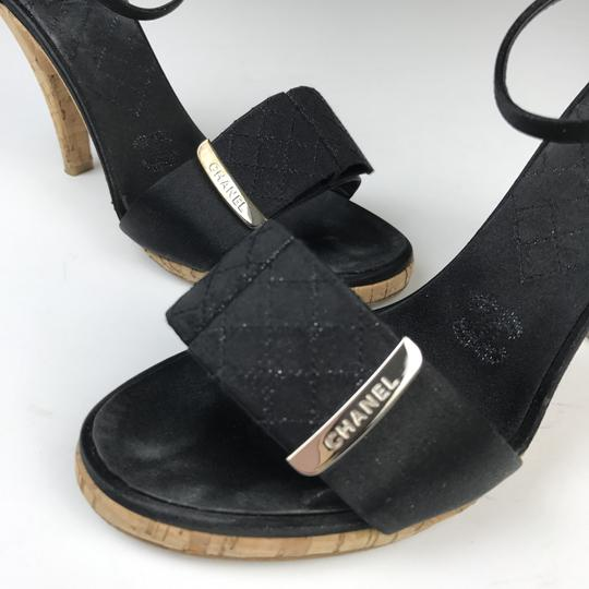 Chanel Satin Black Sandals Image 5