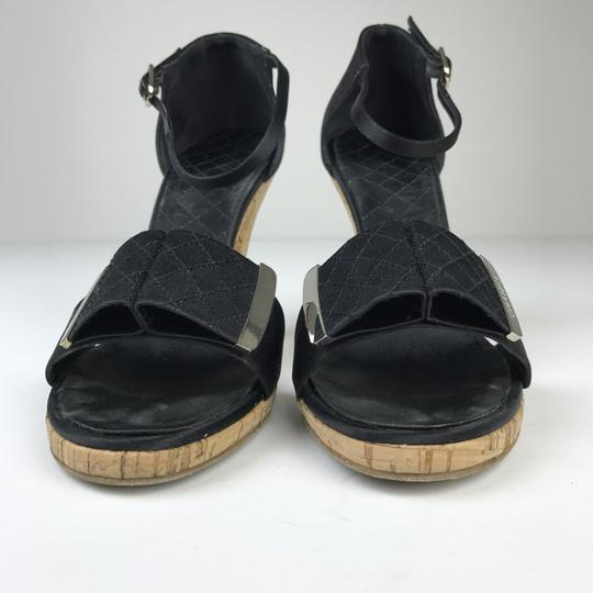 Chanel Satin Black Sandals Image 6