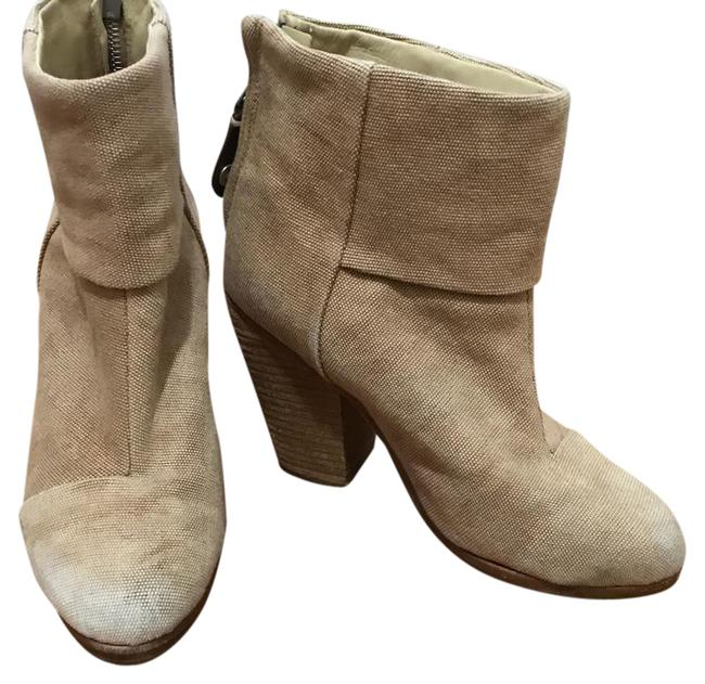 Item - Nude Newbury Tan Canvas Ankle Boots/Booties Size US 5 Regular (M, B)