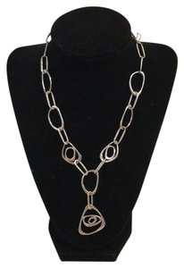 None Geometric link necklace