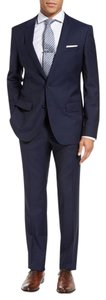 Hugo Boss Hugo Boss Mens Suit, 2 Button Black Pinstripe, 42R passini movie Long