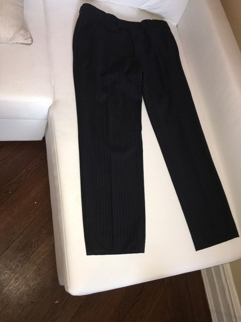 Hugo Boss Hugo Boss Mens Suit, 2 Button Black Pinstripe, 42R passini movie Long Image 6