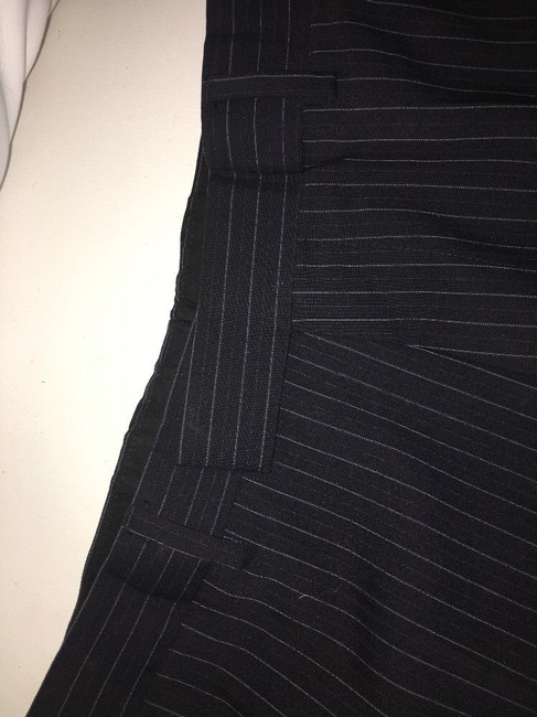 Hugo Boss Hugo Boss Mens Suit, 2 Button Black Pinstripe, 42R passini movie Long Image 7