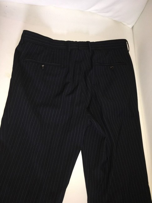 Hugo Boss Hugo Boss Mens Suit, 2 Button Black Pinstripe, 42R passini movie Long Image 9