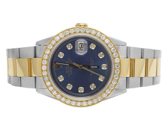 Preload https://img-static.tradesy.com/item/21853119/rolex-blue-two-tone-datejust-18ksteel-36mm-oyster-dial-diamond-35-ct-watch-0-0-540-540.jpg