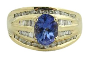 Other Vintage Diamond And Amethyst Ring- 14k Yellow Gold