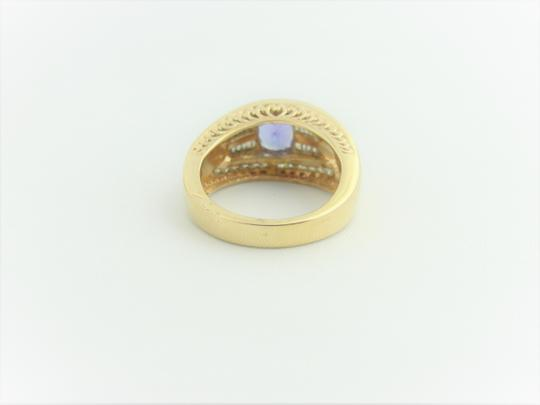 Other Vintage Diamond And Amethyst Ring- 14k Yellow Gold Image 1