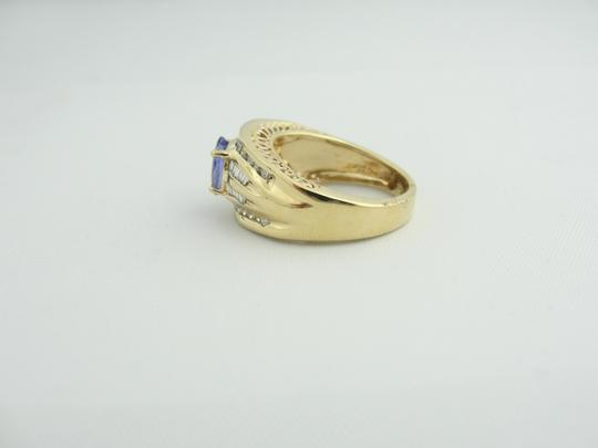 Other Vintage Diamond And Amethyst Ring- 14k Yellow Gold Image 2