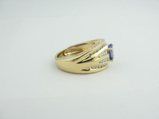 Other Vintage Diamond And Amethyst Ring- 14k Yellow Gold Image 4