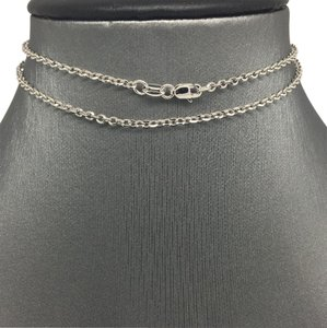 other 18K White Gold Cable Chain 16 inches