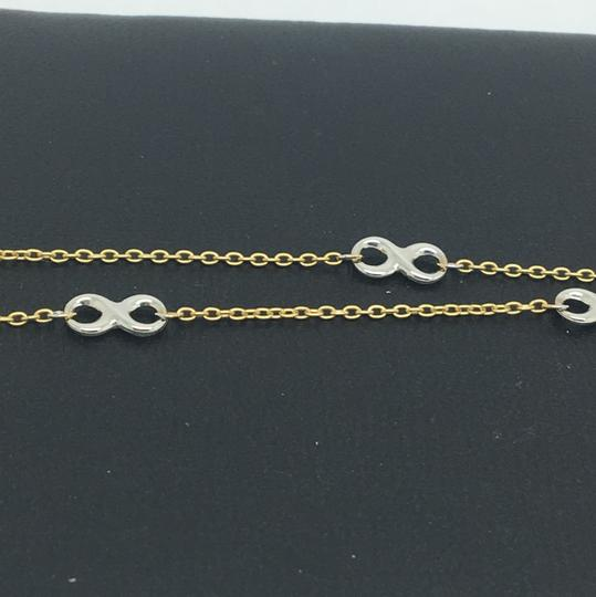 other 4K Two-Tone Gold Infinity Bracelet Image 1