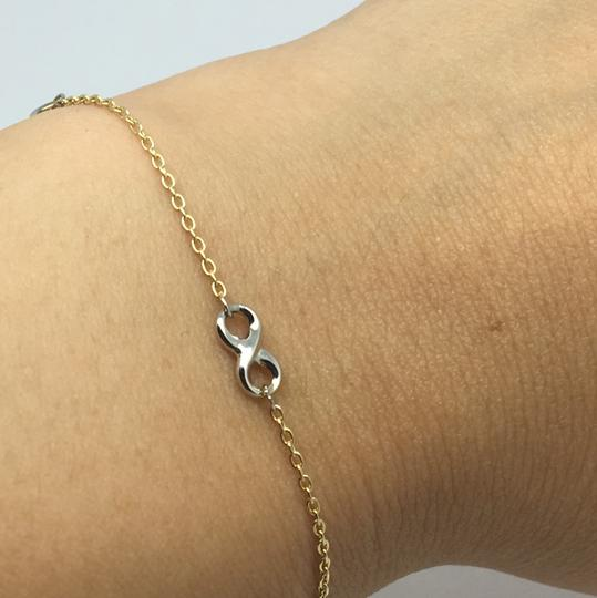 other 4K Two-Tone Gold Infinity Bracelet Image 3