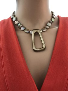 other Gold coin pearl necklace