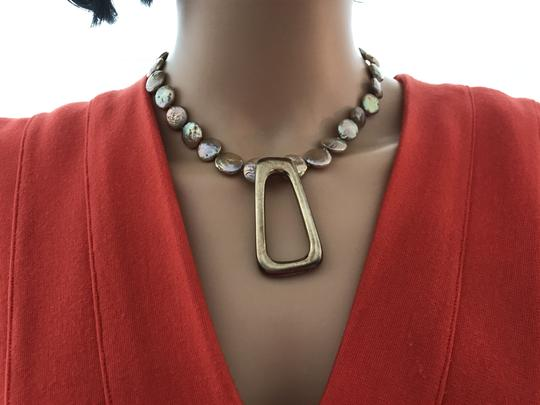 other Gold coin pearl necklace Image 2