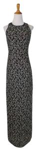 Papell Boutique Vintage Beaded Silk Sheath Sleeveless Dress